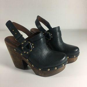 Kork-Ease Carmella Slingback Clog Blue Leather